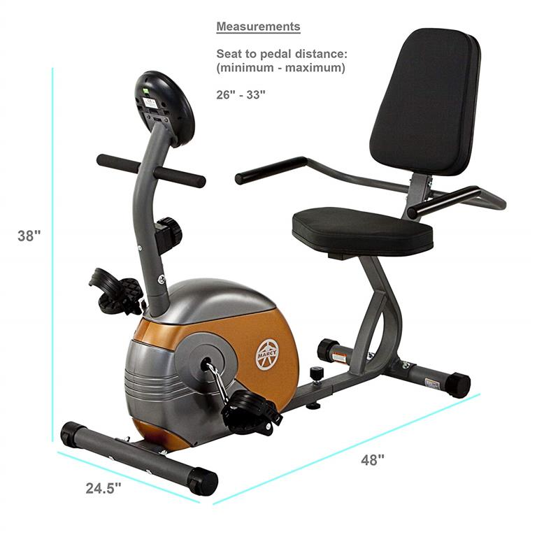 Marcy recumbent exercise bike exercises with resistance me 709.
